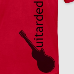 'Guitarded' shirt with vertical 'Guitarded' logo design  - Men's T-Shirt by American Apparel