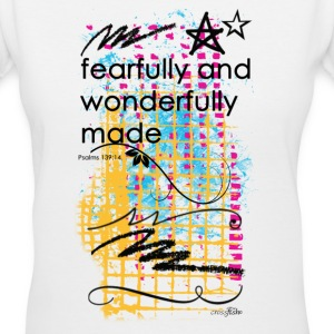 Fearfully and wonderfully made. - Women's V-Neck T-Shirt