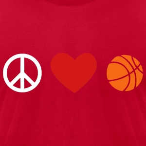 Basketball Men's American Apparel Tee - Men's T-Shirt by American Apparel