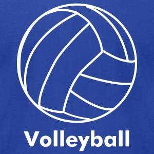 Royal blue volleyball T-Shirts - Men's T-Shirt by American Apparel