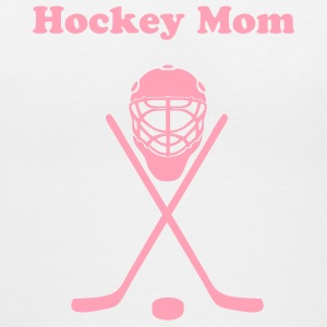White hockey Women's T-Shirts - Women's V-Neck T-Shirt