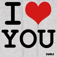 Ash  i love you by wam Hoodies
