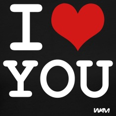 Black i love you by wam Long Sleeve Shirts
