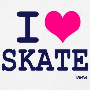 White i love skate by wam Women's T-Shirts - Women's T-Shirt