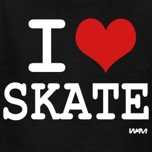 Black i love skate by wam Kids' Shirts - Kids' T-Shirt