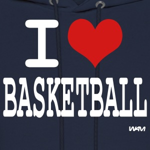 Navy i love basketball by wam Hoodies - Men's Hoodie