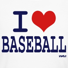 White i love baseball by wam Long Sleeve Shirts