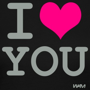 Black i love you by wam Long Sleeve Shirts - Women's Long Sleeve Jersey T-Shirt