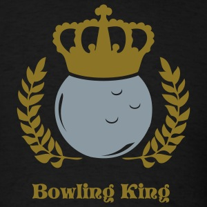 Black bowling king and queen T-Shirts - Men's T-Shirt