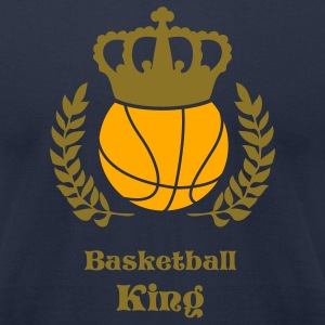 Navy baskelball Kings T-Shirts - Men's T-Shirt by American Apparel