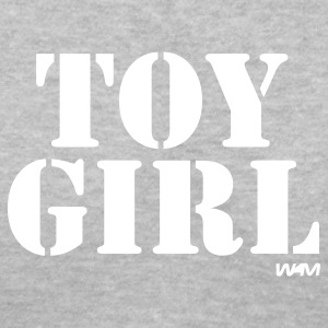 Gray toy girl by wam Women's T-Shirts - Women's V-Neck T-Shirt