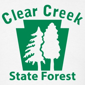 Clear Creek State Forest Keystone (w/trees) T-Shirts - Men's T-Shirt