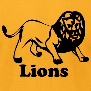 Gold lions sport team T-Shirts - Men's T-Shirt by American Apparel