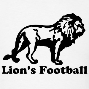 White Custom Lion for Sports T-Shirts - Men's T-Shirt