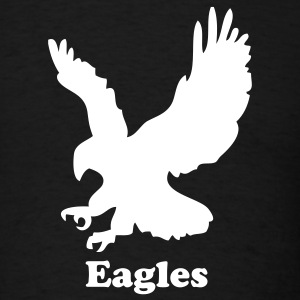 Black Custom Eagle Sports Graphic T-Shirts - Men's T-Shirt