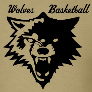 Khaki wolf or wolverines? T-Shirts - Men's T-Shirt