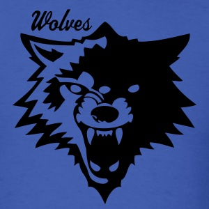 Royal blue wolf or wolverines? T-Shirts - Men's T-Shirt
