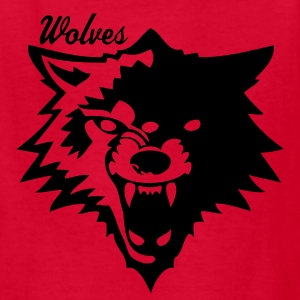 Red wolf or wolverines? Kids' Shirts - Kids' T-Shirt