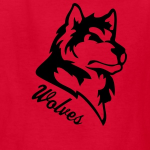 Red wolf or wolves or huskies custom Kids' Shirts - Kids' T-Shirt