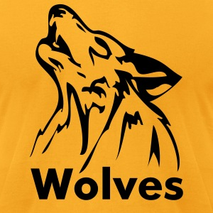 Gold wolf T-Shirts - Men's T-Shirt by American Apparel