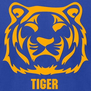 Royal blue tigers T-Shirts - Men's T-Shirt by American Apparel