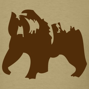 Khaki Grizzly bear  T-Shirts - Men's T-Shirt