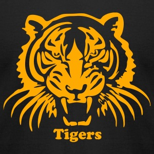 Black tiger3 T-Shirts - Men's T-Shirt by American Apparel