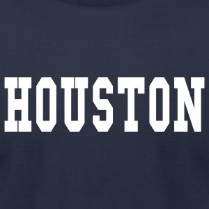 Navy houston by wam T-Shirts - Men's T-Shirt by American Apparel