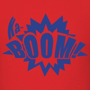 Ka-BOOM! Mens blue, red shirt - Men's T-Shirt