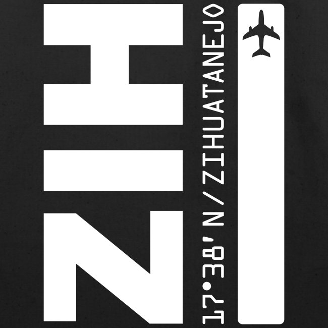 Zihuatanejo Mexico Airport Code ZIH black beach/tote bag solid design
