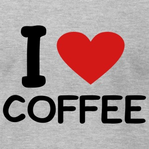Heather grey I love Coffee T-Shirts - Men's T-Shirt by American Apparel
