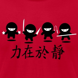 Eggplant Ninja Army T-Shirts - Men's T-Shirt by American Apparel