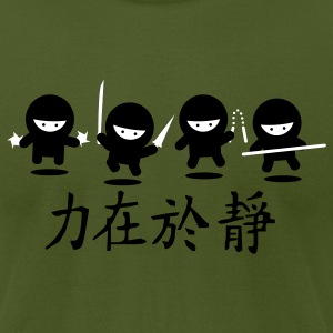 Olive Ninja Army T-Shirts - Men's T-Shirt by American Apparel