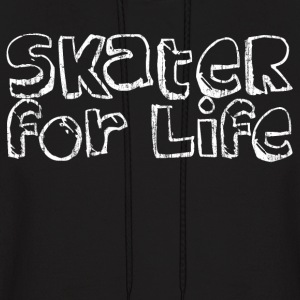 Black Skater for Life Hoodies - Men's Hoodie
