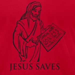 Jesus Saves - Men's T-Shirt by American Apparel