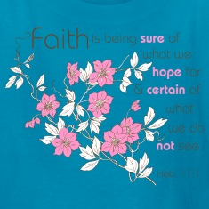 Classic pink Faith (pink & brown) Kids' Shirts