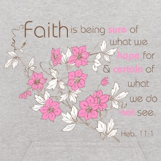 Heather grey Faith (pink & brown) Sweatshirts