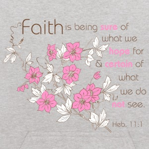 Heather grey Faith (pink & brown) Sweatshirts - Kids' Hoodie