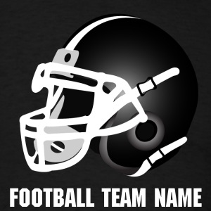 Black black football helmet T-Shirts - Men's T-Shirt