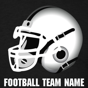 Black white football helmet T-Shirts - Men's T-Shirt