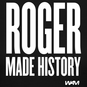 Black ROGER made history Long Sleeve Shirts - Women's Long Sleeve Jersey T-Shirt