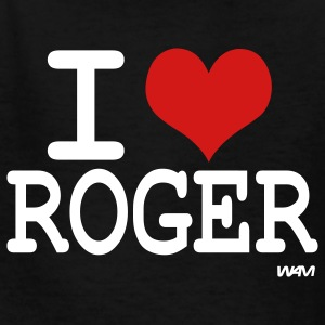 Black i love roger Kids' Shirts - Kids' T-Shirt