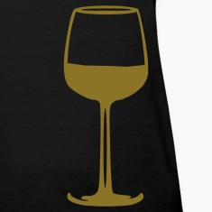 Black Wine - Glass Women's T-Shirts