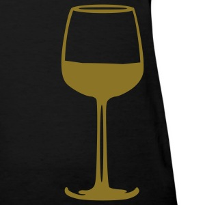 Black Wine - Glass Women's T-Shirts - Women's T-Shirt