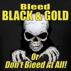 Black Bleed Black and Gold T-Shirts - Men's T-Shirt