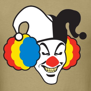 Khaki Evil Clown T-Shirts - Men's T-Shirt