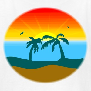 White sunset/sunrise Kids' Shirts - Kids' T-Shirt