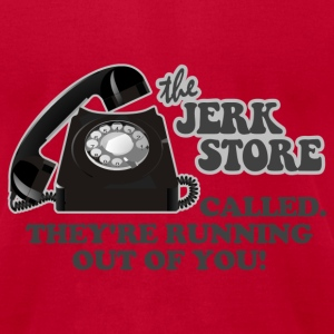 Light blue Seinfeld Jerk Store T-Shirts - Men's T-Shirt by American Apparel