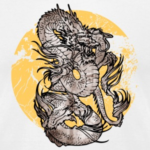White cool Chinese dragon T-Shirts - Men's T-Shirt by American Apparel