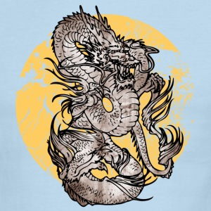 White/navy cool Chinese dragon T-Shirts - Men's Ringer T-Shirt